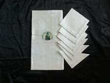 Unused Linen Damask Tablecloth and 6 Napkins