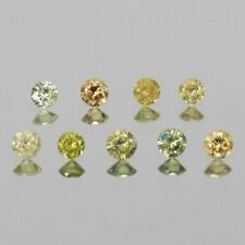 0.24 Carat NATURAL Yellow DIAMOND LOOSE for Setting Round Untreated 9PCS LOT