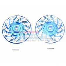 GPM Racing Alum +2mm Hex Blue w/ Brake Disk & Silver Lining : Rustler 4x4 VXL