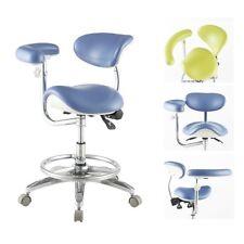Ergonomic Dental Deluxe Mobile Saddle Seat Chair Saddle Stool Doctor's Seat PU