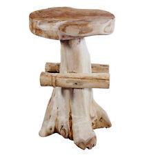 Design Barhocker Teak feststehende Sitzfläche Hocker Holz Teakholz Teakwurzel