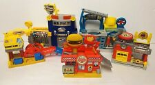 MATCHBOX HERO CITY SKY PLAYSET MATTEL CAR WASH BURGER FIRE POLICE STATION TOY