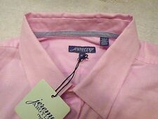 Jeremy Argyle of NYC Long Sleeve Solid Pink Sport Shirt NWT XL Tailored Fit $148