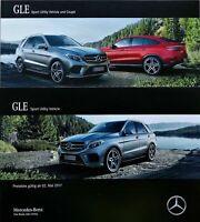 ANr.149) Prospekt Mercedes GLE SUV 2017 brochure + Preisliste 250d bis AMG 63 43