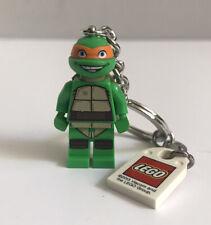TMNT MICHELANGELO TEENAGE MUTANT HERO TURTLES LEGO KEYRING NEW 2013 TMHT