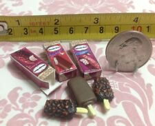 Dollhouse Miniature Food Dessert Haagen-dazs Chocolate Ice cream Sticks 1:12