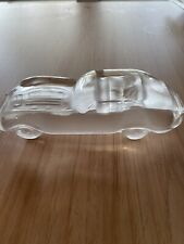 Vintage Collectible Jaguar E-Type Crystal Frosted Glass Car Paperweight Hofbauer