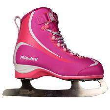 Riedell 615 Soar Softboot Junior Girls Figure Skates - Pink, Purple (NEW)
