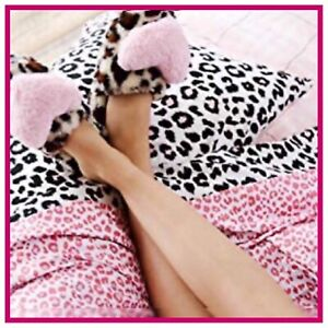 NIP Betsey Johnson Performance Collection QUEEN Pink Leopard Bed Sheet Set NWT