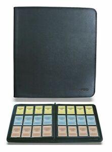 Ultra PRO Deck Builder's Premium Pro Binder 4 Card Playset BLACK Album Folder480