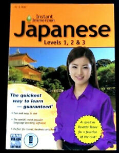 Instant Immersion JAPANESE Levels 1, 2 & 3 WIN/MAC DVD-ROM SOFTWARE