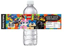 10 LEGO MOVIE 2 Personalized BIRTHDAY PARTY FAVORS WATER BOTTLE LABELS WRAPPERS
