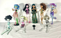 Monster High Skull Shores Dolls Lot 8 Frankie Cleo Draculaura Ghoulia Clawdeen
