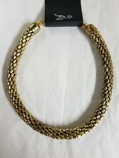 NEW Zad Necklace Imitation Gold and Chain Lobster Clasp Fashion Jewelry 18""