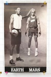 Vintage 1993 NIKE MICHAEL JORDAN Best On Earth Mars Spike Lee Poster 36x22