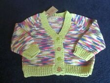 Hand knitted v neck cotton cardigan 1-2 years