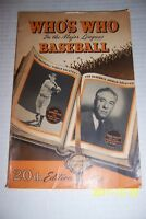 1952 Whos Who NEW YORK YANKEES Joe DIMAGGIO Brooklyn Dodgers JACKIE ROBINSON