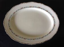 "Ridgways Staffordshire England China 302 Serving Platter 14"" Warranted 22Kt Gold"