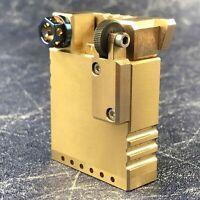Brass Gasoline Lighter Retro Vintage Collection Oil Lighters Luxury Smoking Tool