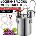 Automatic 3 Pot 5 Gal 20L Moonshine Still Distillery Kit Water Alcohol Distiller