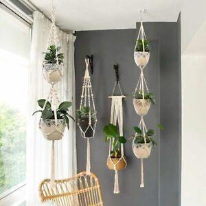 Handmade Macrame Plant Hanger Flower Pot  Wall Decorative Garden Hanging Basket