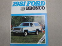 1981 Ford Bronco Advertising Brochure