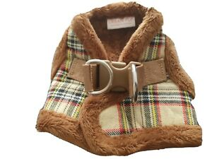 Urban PupUrban Pup Faux Fur Lined Brown Tartan Small Dog Vest