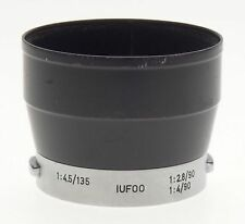 LEICA IUFOO black camera lens hood shade 1:4.5/135 Leitz Wetzlar for hektor