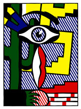 American Indian Theme III A1 by Roy Lichtenstein High Quality Canvas Print