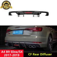 S4 Rear Diffuser Lip Spoiler Carbon Fiber for Audi B9 S4 2017-2020 K Style