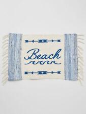 NEW Beach and Arrow Design 100% Woven Cotton Floor or Door Mat