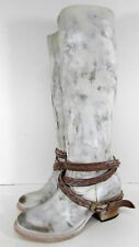 $325 Freebird By Steven Womens Canon Riding Boot Shoes, Ice, US 7