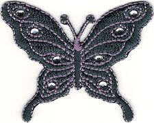 """2.25"""" Purple Stone Butterfly Embroidery Patch"""