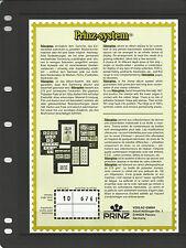PRINZ 1 STRIP BLACK STAMP ALBUM STOCK SHEETS Pack of 10 - each Pocket 245mm High