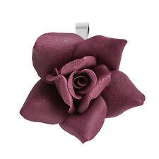 Beautifully Detailed Handmade Blooming Maroon Rose Pendant
