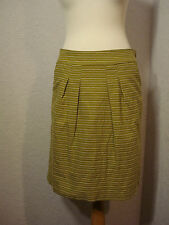 White Stuff mustard green embroidered patterned skirt 12 worn once