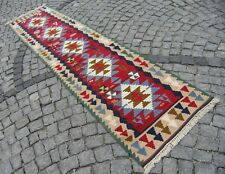 Turkish  Anatolian  NOMADS Runner  Kilim  30,3'' X 119,6'' Hallway Corridor Rug