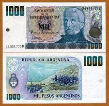 Argentina, 1000 Pesos Argentinos, ND (1984), Pick 317b, UNC