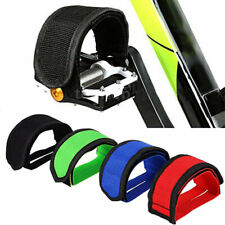 1Pair of Cycling Bike Anti-slip Fixed Gear Bicycle Pedals Toe Clips Straps Fixie