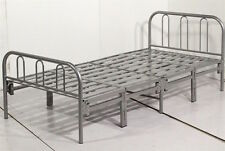 TEXAS HEAVY DUTY  METAL FOLDING BED, GUEST BED  3FT SINGLE SILVER BED FRAME