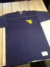 Vtg 70's Russell WEST VIRGINIA MOUNTAINEERS Blue T-shirt USA Thin Jerzees Rare L