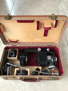 Leica, Leitz Koffer mit Balgen Einstellgerät.