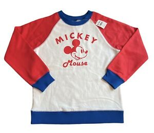 Hanna Andersson Disney Mickey Mouse Sweatshirt 130 8 Retro Style Pullover NEW
