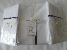 NEW AUTH POTTERY BARN PEARL EMBROIDERED DUVET COVER CAL KING 108X92/2 KINH PILLO
