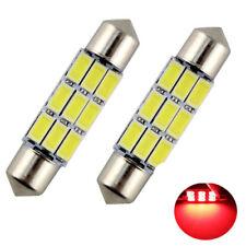 2 ampoules à LED auto navette 41 mm LED plafonnier C5W  SMD rouge