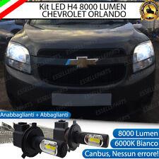 KIT FULL LED CHEVROLET ORLANDO LAMPADE LED H4 6000K BIANCO GHIACCIO NO ERROR