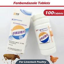 100Tablets Fenbendazole Tablets De-wormer Panacur Safe Guard For Poultry