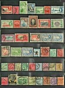 BRITISH COLONIES   LOT OF VERY OLD STAMPS # 10  A
