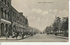 1938 ISLINGTON - Upper Street, shops, people, church