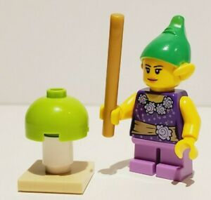 """NEW LEGO Holiday/Fantasy """"Elf"""" Female Minifigure with Accessories"""